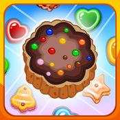饼干糖果紧缩流行 - 匹配三个好玩的游戏 1