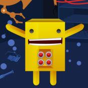活跃!创建您自己的机器人!游戏和益智儿童与机器人的幼儿园,幼儿园或托儿所