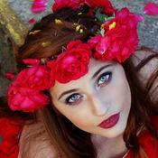 花冠应用时尚新娘碎花发型 1