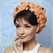 花冠的发型照片蒙太奇 – 可爱的发饰和时尚沙龙女孩 1