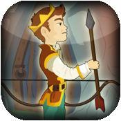 中世纪王子弓和箭射击游戏 - 击中目标挑战 1