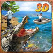 鳄鱼攻击模拟器3D - 引导野生鳄鱼和追捕农场动物 1