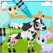 Animal Vocab & Coloring - 動物 画画涂色 和 词汇 对于