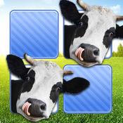 记忆游戏 农场动物照片 - 孩子和年幼的孩子孩子儿童游戏幼
