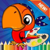 鸟图画书的儿童...