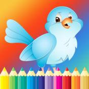 鸟图画书的孩子 - 儿童绘画免费游戏 1