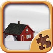 雪景观拼图游戏 ...
