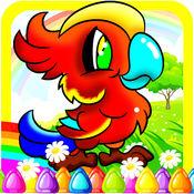 画画 儿童着色鸟书 男孩和女孩的游戏 1