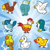 记忆游戏,鸟为幼儿和孩子!学习记忆 - 小女孩的应用程序 - 游