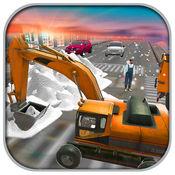 雪救援挖掘机起重机冬天3D 1