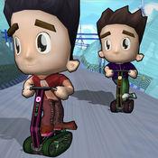 雪滑板车车手孩子 - 顶部3d雪自行车滑行车 1