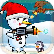 雪人奔跑冒险和跳跃比赛 1