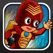 微小的Jetpack的超级英雄种族  无偿地  1