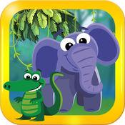 年``动物动物园和农场的婴儿听到大象和动物的声音为学龄前