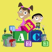 学前教育游戏(儿童英语活动-* 形状拼图 * 字母和语音 * 数