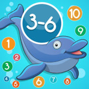 3-6岁儿童的海洋动物的数学游戏:了解数字1-20。有趣的游戏和练习幼儿园,学前班或幼儿园,海,水,鱼,甲鱼,鳗鱼,海豚和螃蟹