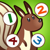 儿童游戏2-5岁左右的森林动物:学会数数1-10幼儿园,学前班或