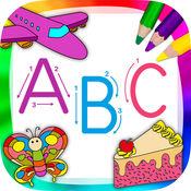 英文字母表ABC学英语背单词识字&儿童画画游戏