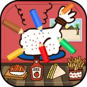 着色 餐饮 儿童画画填色涂鸦 - 快乐的涂色书 1.0.0