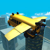 飞行汽车模拟器3D :特技公交车 1