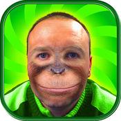 猴 面 照片 蒙太奇 - 有趣的 动物 脸 疯狂的 贴纸 相机 1
