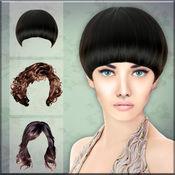 发型 美容屋 图片蒙太奇 - 编辑 照片 和 尝试 不同 风格