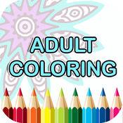曼荼罗着色书-成人颜色疗法自由压力缓解页免费 1