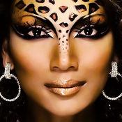 动物 纹 彩妆 元素 设计 化妆 化妆品 相框  1