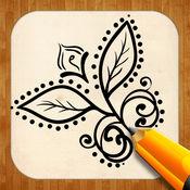 创意绘图 指甲花纹身 1