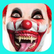 恐怖 小丑 照片 编辑 - 小丑 妆 和 面具 1
