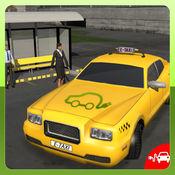 电动汽车出租车司机3D模拟器:市汽车传动接客 1