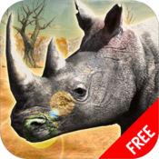 犀牛 非 洲 模拟 器 :野生 动物 生存 游戏 免费 1.0.0