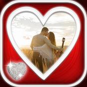 浪漫的爱情 照片编辑器 – 制作拼贴 和 美化图片 贴纸,文字
