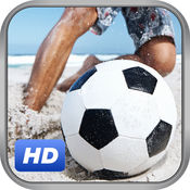 玩沙滩足球比赛 - 一个真正的足球比赛上最受欢迎的海滩201