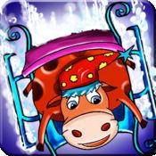 动物滑雪场 - 滑雪板的Safari特技冰上曲目(免费游戏) 1