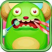 嘘怪物访问牙医:清洁牙齿游戏的孩子 1