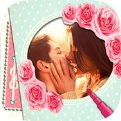 浪漫爱情贴纸相框相机