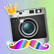 潮人照片编辑器 - 面对变革以搞笑贴纸及疯狂的摄像头效果