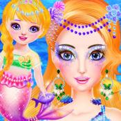 美人鱼妈妈和宝贝化妆护理 1