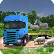 动物运输卡车驾...