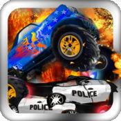 COPS与怪物卡车 - 卡车游戏 - Free Monster Truck Games 1