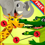 动物点到点:手指画的孩子成人的乐趣发挥教育孩子游戏 1.0.1