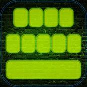 LED键盘免费 – 霓虹灯键盘的主题同有色字体 1