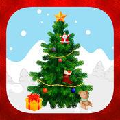 装饰和创建与贴纸的圣诞树 1.1