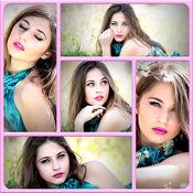 拼贴制作照片编辑器 - 安排和调整多张图片与帧 1