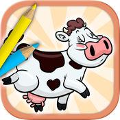 农场动物图画书-颜色和油漆的宠物