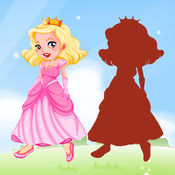 公主 拖动 下降 和 比赛 阴影 对于 孩子们