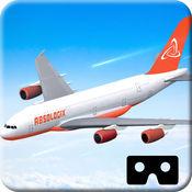 VR真正的飞机飞...