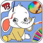 免费着色页 - 学龄前玩具的颜色 - 孩子爱学习颜色-fun色彩