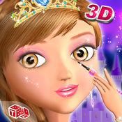 公主沙龙3D - 女孩夏季派对化妆和最新的时尚装扮游戏 2